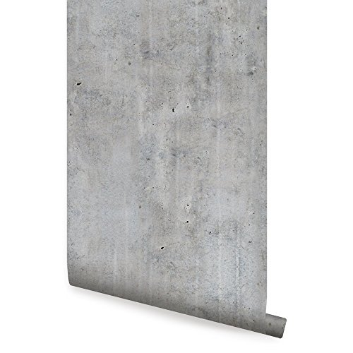 Cement Concrete Wallpaper - Dark Grey - 2 ft x 4 ft - Single - by Simple Shapes (Concrete Removable Adhesive)