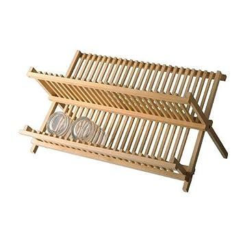 Ikea Abtropfgestell Magasin Massivholz Amazonde Küche Haushalt