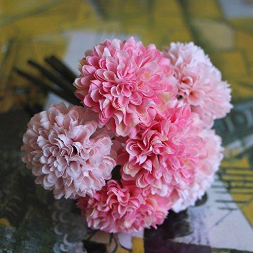 UNAKIM--Artificial Fake 5-heads Flower Peony Silk Hydrangea Home Wedding Garden - Shopping Stores Magnolia Center