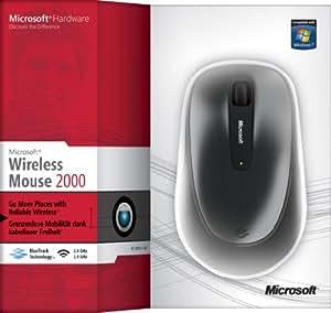 Microsoft Wireless Mouse 2000 - Ratón, USB, Wireless, BlueTrack, 100 MB, Microsoft Windows 7 Windows® Vista(TM), Windows XP SP2, Mac OS X v10.2-10.6, Negro [producto importado]