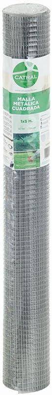 50 x 300 x 4 cm Catral 55010005 Malla cuadrada galvanizada color plata