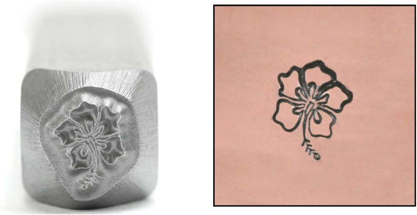 Hibiscus Design Stamp ImpressArt 6mm