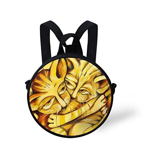 Cute Casual and Bag Women Shoulder Girls W8cd0424i FancyPrint Round Women Handbag Fashion paB7xg