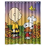 Charming Custom Happy Thanksgiving Waterproof Polyester Shower Curtain 60
