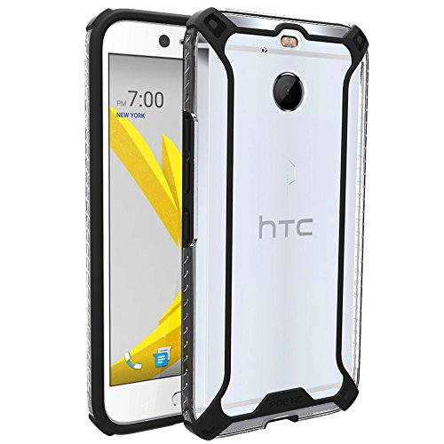 Poetic Affinity Series Slim Fit Dual Material Protective Bumper Case for HTC Bolt (2016) Black/Clear