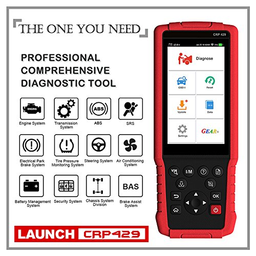 LAUNCH CRP429 OBD2 Scanner Diagnostic Scan Tool SRS ABS Full System Code Reader Reset Functions of Oil Reset, EPB, BMS, SAS, DPF, ABS Bleeding, Injector Coding and IMMO (Advanced version of CRP429C) by LAUNCH (Image #9)