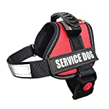 ALBCORP Service Dog Vest Harness - Reflective - Woven Polyester & Nylon,Comfy Mesh Padding, XXS, RED