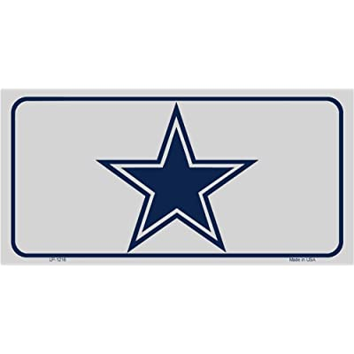 Dallas Texas Star Novelty Vanity Metal License Plate Tag Sign LP-1216 for Cars and Trucks: Automotive