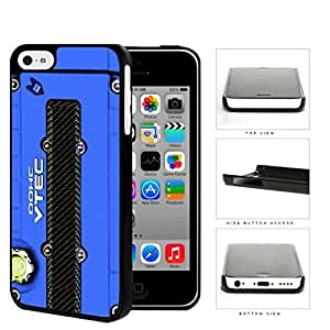JDM Series Hard Snap on Phone Case Cover Apple iPhone 5c (Blue)