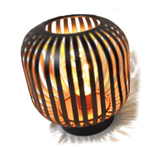 HAB & GUT Farol de Mesa Decorativa Cobre LED L238- Pulpo lámpara de Mesa de Metal para Uso en Exteriores