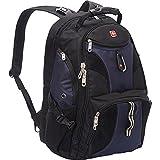 SwissGear 1900 Scansmart TSA Laptop Backpack - Black/Blue offers