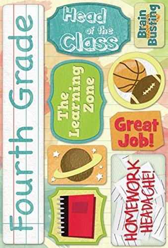 KAREN FOSTER Cardstock Stickers-Fourth Grade
