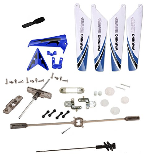 XiaoPengYo Full Spare Parts Main Blade Propeller + Connect buckle + Balance Bar + Main Shaft + Gear for Syma S107G S107 RC Helicopter - (Helicopter Spare Parts)