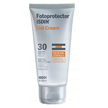 Amazon.com: Isdin SPF-30 Gel-Cream Gel-Crema Sunscreen 200ml X Mas ...