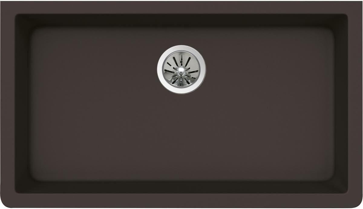Elkay Quartz Luxe ELXRU13322CN0 Chestnut Single Bowl Undermount Sink