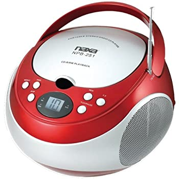 Naxa Electronics Npb-251rd Portable Cd Player With Amfm Stereo Radio 1