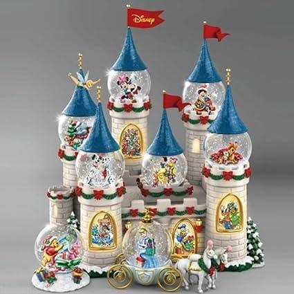 Disney Christmas Snow Globes.Disney Christmas At The Castle Snowglobe Bradford Exchange