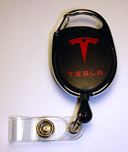 TESLA Motors Retractable ID Badge Holder