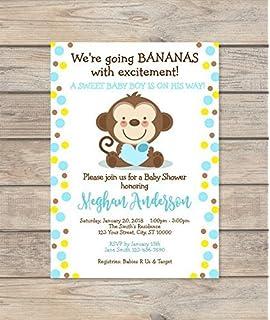 amazon com little monkey baby shower invitations sprinkle