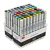 CoCocina 72 Colors Mark Pen Design Paint Sketch Markers Drawing Soluble Pen Cartoon Graffiti Art Markers Pens
