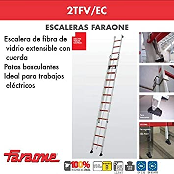 ESCALERA PROFESIONAL 2TFV/EC FARAONE. LCS (2TFV.400/EC 14+14 Peldaños): Amazon.es: Bricolaje y herramientas