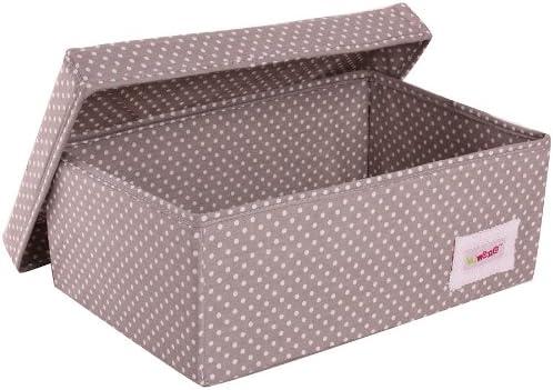 Large, Pink Minene Storage Basket with White Polka Dot
