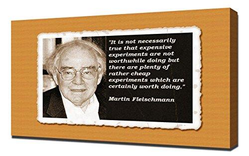 Martin Fleischmann Quotes 5 - Canvas Art Print - Wall Art - Canvas (Fleischmann Box)