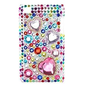 Siete colores en forma de corazón Tipo de caja de diamantes para itouch 4