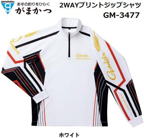 がまかつ(Gamakatsu) シャツ 2WAY プリントジップ L ホワイト GM-3477