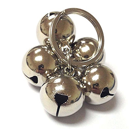 (Sport Art DIY pet bells 304 stainless steel dog bells pet anti-lost bells ornaments never rusty sound sweet ears bells pet necklace Loudly bells (1PCS))