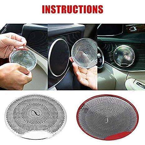SODIAL Car Audio Speaker Cover Door Speaker Cover For Mercedes E//C//Glc Class W213 W205 Matte