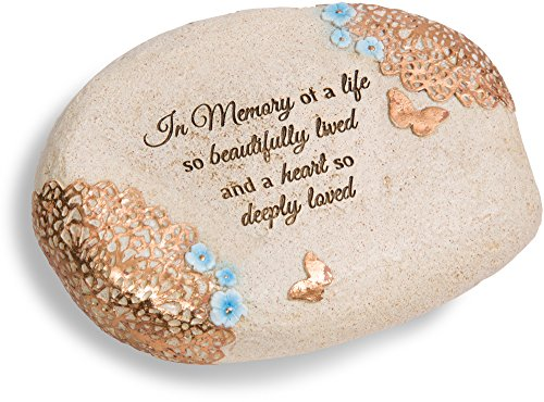 (Pavilion Gift Company 19142 Light Your Way in Memory Memorial Stone, 6 x 2-1/2