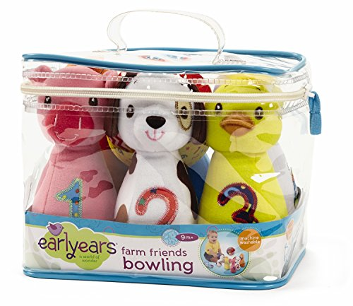 Earlyears Baby Farm Friends Bowling - Have Fun Bowling While Learning and Loving 6 Soft Farm Animal Pins - 12 Months and Up