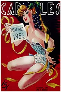 "Amazon.com: 11""x 14"" Poster. ""Carteles Magazine cover"" Happy New Year"