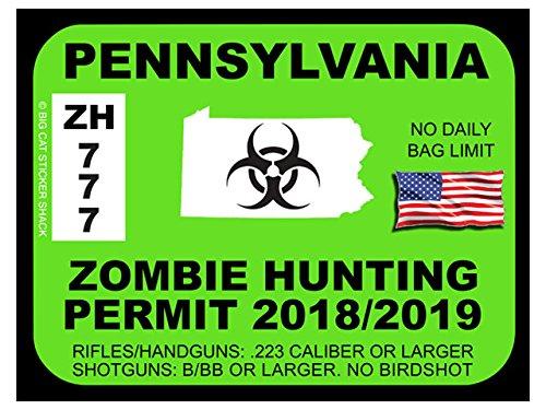 Pennsylvania Zombie Hunting Permit(Bumper Sticker)