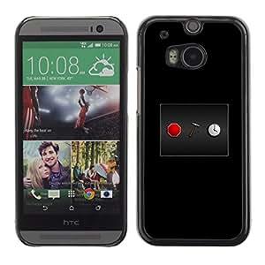 LECELL--Funda protectora / Cubierta / Piel For HTC One M8 -- Detener el reloj --