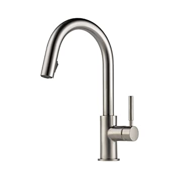 Brizo 63020LF SS Solna Kitchen Faucet With Pullout Spray, Stainless Steel
