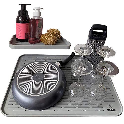 Dish Drying Mat + Sponge Holder (XXL 24 x 18