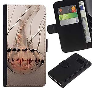 All Phone Most Case / Oferta Especial Cáscara Funda de cuero Monedero Cubierta de proteccion Caso / Wallet Case for Sony Xperia Z3 Compact // Umbrella Art White Ocean