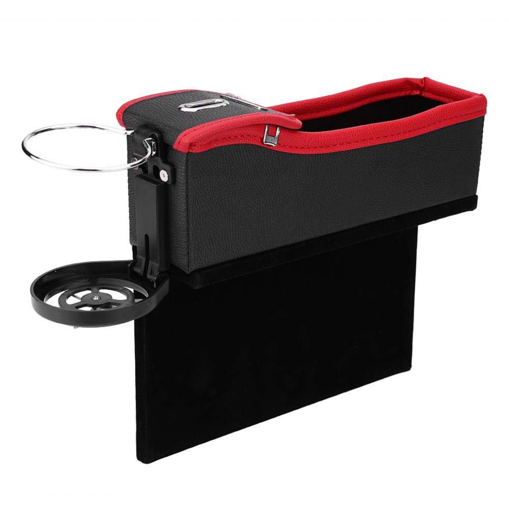 Car Seat Gap Crevice Wallet Organizer Phone Storage Coins Box Beverage Bottle Holder Pocket Bag (Driver Seat) Yosoo® .