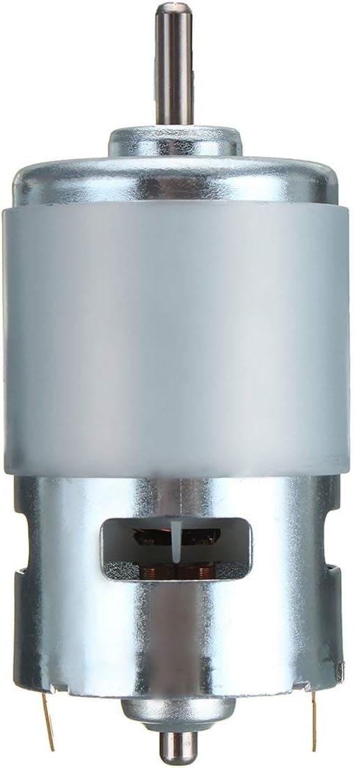 Heaviesk 775 DC 12V-24V 3500-9000RPM Motor Rodamiento de Bolas Gran par de torsión High Power Low Noise DC Motor para Herramientas eléctricas