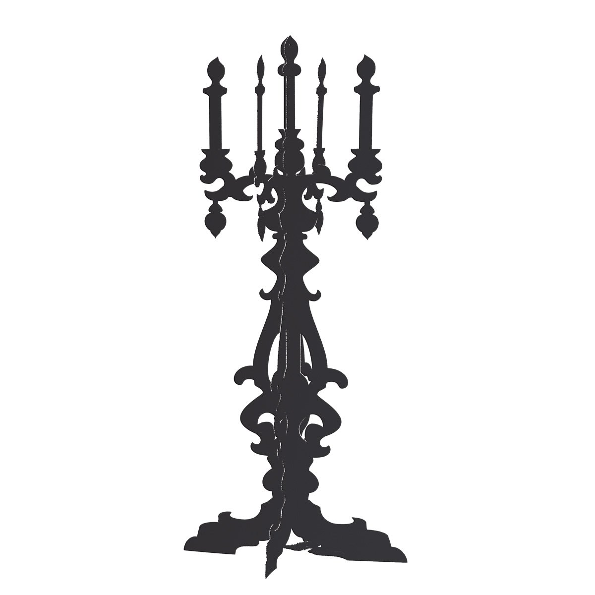 Black Candelabra Cardboard Standup Kit - 5 feet 5 inches high x 29 inches wide