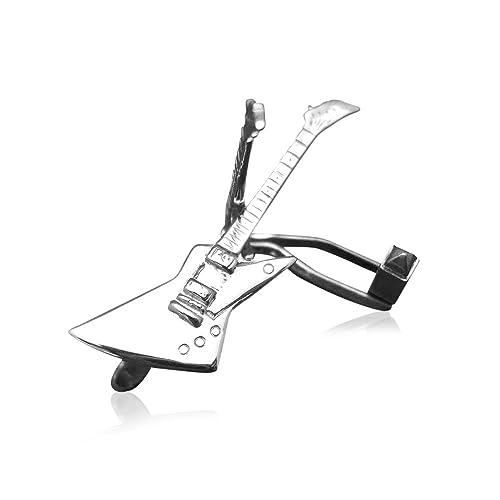 Para hombre plata de ley para guitarra eléctrica Gibson Explorer gemelos: Guitar-Necklace: Amazon.es: Joyería