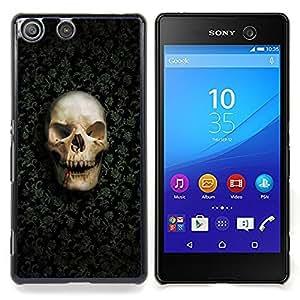 GIFT CHOICE / Teléfono Estuche protector Duro Cáscara Funda Cubierta Caso / Hard Case for Sony Xperia M5 // Design Skull Pattern //