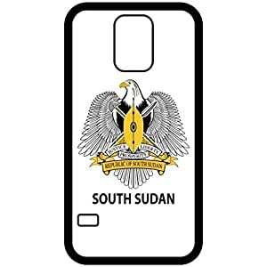 South Sudan - Coat Of Arms Flag Emblem Black Samsung Galaxy S5 Cell Phone Case - Cover