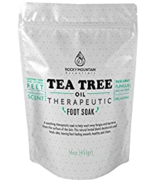 Rocky Mountain Essentials, Tea Tree Antifungal Foot Soak, 16 Ounce