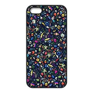 iPhone 4 4s Cell Phone Case Black Icon Set R1X7HJ
