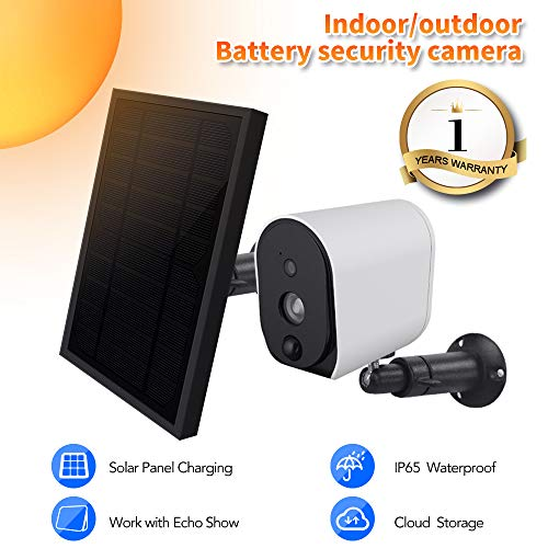 Viewzone Solar Panel And Rechargeable Battery Powered