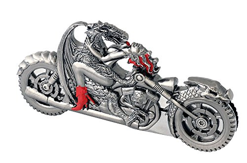 - Vulcan Gear Dragon Riding with Naked Girl Chopper Motorcycle Metal Handle Folding Knife