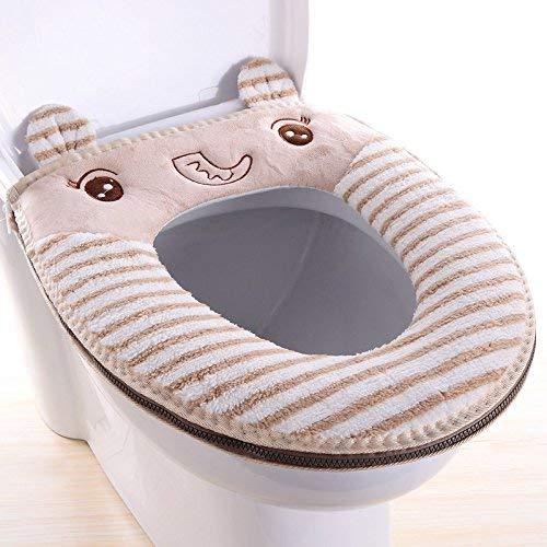 Toilet Cushion Toilet Cushion The Scenery of Bathmats Toilet Mats Three Piece Bathroom Mat,H